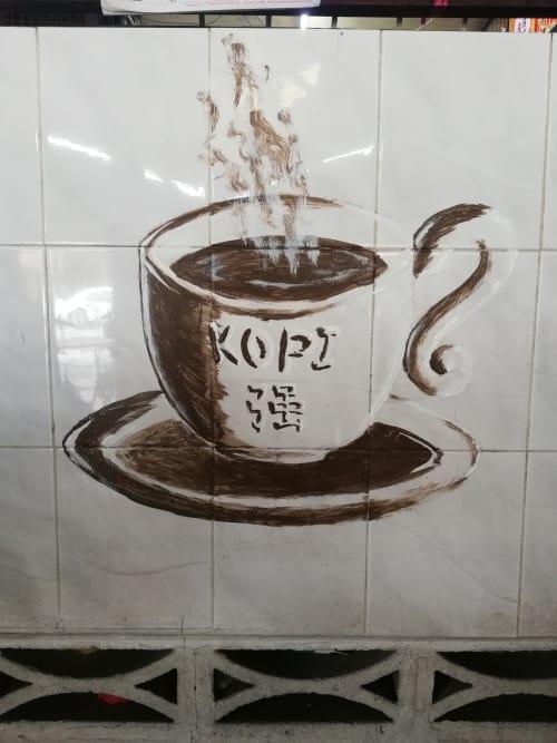 Murals by Kaeious Art seen at Kopisan Baru, Gopeng - 咖啡強 壁畫 Kopi Coffee on the Wall Mural Art