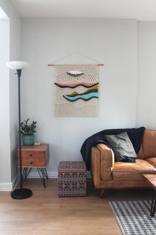 Macrame Wall Hanging by Taylor Salisbury (Urban Jungle Design) seen at Private Residence, Toronto - Custom 'Sunset by the Sea'