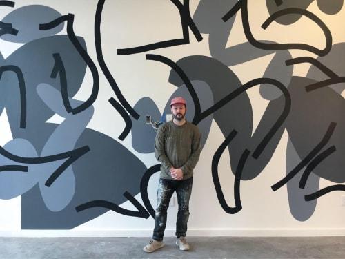 "Murals by Ryan Beck seen at Heid Building, Philadelphia - ""Untitled Heid One A"""