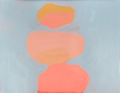 Paintings by Angela Warren seen at Creator's Studio, Saint Petersburg - Wading Series, Abstract Landscape