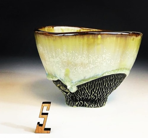 Tableware by Lithology Ceramic Art seen at Laguna Clay Co. (Axner Pottery Supply), Oviedo - Green Colored Porcelain Rea Bowl