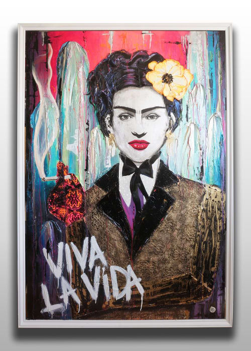 "Paintings by Nickhartist seen at Private Residence, Oakland - Frida ""Viva La Vida"""