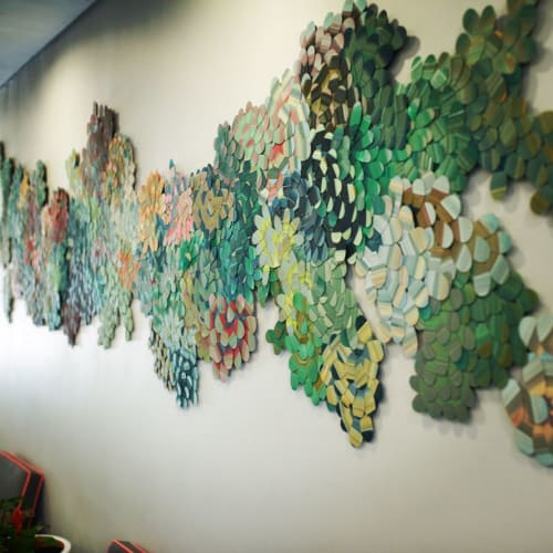 Art & Wall Decor by Lyndi Sales seen at Life Vincent Pallotti Hospital, Cape Town - Collage art installation