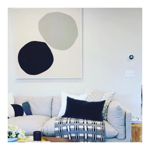"Paintings by Mia Farrington seen at Private Residence, Portland - ""Middle Name Grey"""