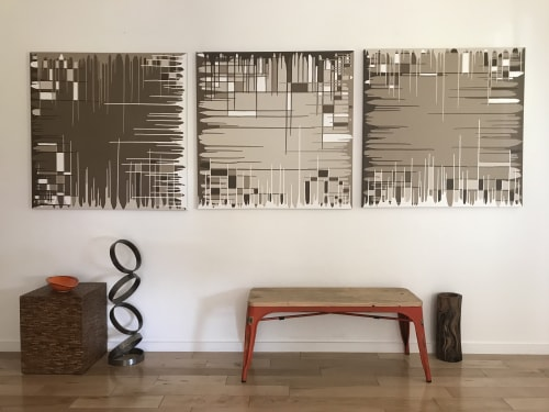 Paintings by AMY TURNER STUDIO seen at Private Residence, Los Angeles - Joshua Tree Triptych