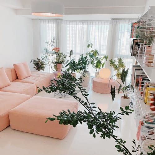 Couches & Sofas by HAY seen at Martine Ho's Home, Makati - Pink Modular Couch