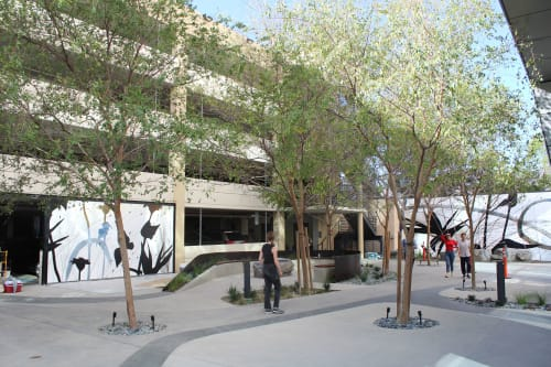 Street Murals by LC Studio Tutto seen at 655 N Central Ave, Glendale - Sun Touches Shadow