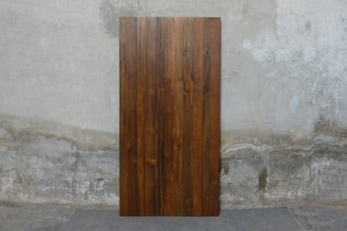 Lurus Straight Edge Dining Tops • Reclaimed Teak / Natural | Tables by From the Source