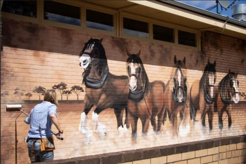 Murals by Lara Ford seen at Karlgarin Country Club, Karlgarin - Yesterday's Farmers, Today's Glory