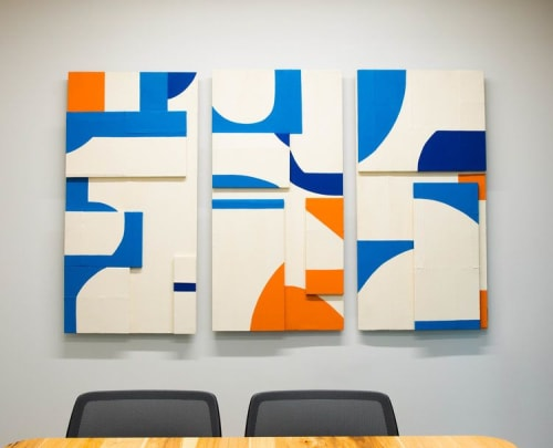 """Paintings by ANTLRE - Hannah Sitzer seen at Google RWC SEA6, Redwood City - """"Untitled"""""""
