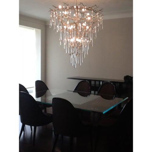 Chandeliers by Alan Mizrahi Lighting Designaq1 seen at Private Residence, Dallas - QZ305 AQUA BRANCH