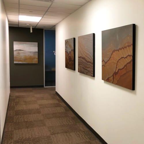Paintings by Melanie Grein seen at Centennial Resource Development, Denver - Centennial Resources