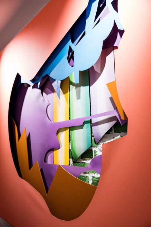 Art & Wall Decor by GiKaMa seen at Kinderkunsthaus, München - Sprung ins Leere