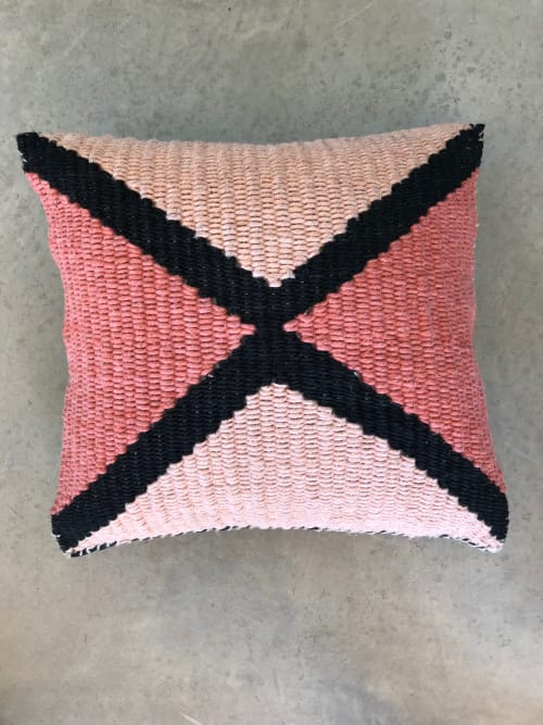 Pillows by TANU handwoven textiles seen at Private Residence, Santa Fe - ><