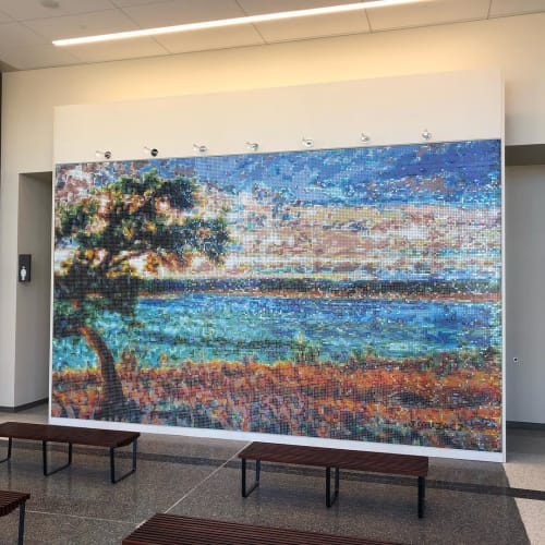 "Public Mosaics by J MUZACZ seen at Georgetown Municipal Court, Georgetown - ""El Arbol"""