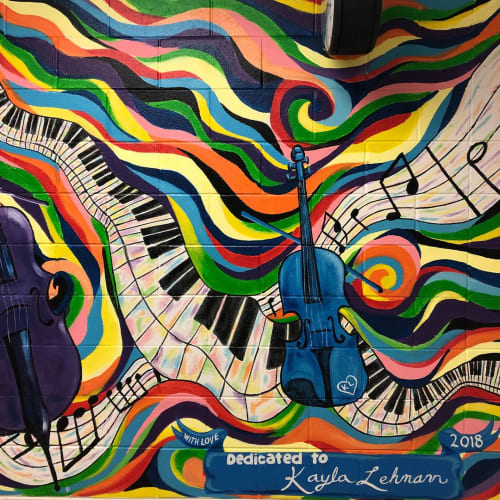 Murals by Nora Kate Paints seen at Bell-Graham Elementary School, St. Charles - Music Mural