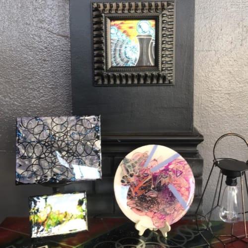 Paintings by Elena Corradino seen at Birds Eye Tattoo and Art Gallery, Springfield - Resin Art