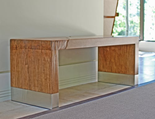 Benches & Ottomans by Andi-Le seen at Private Residence, Aspen - Alluvium Bench