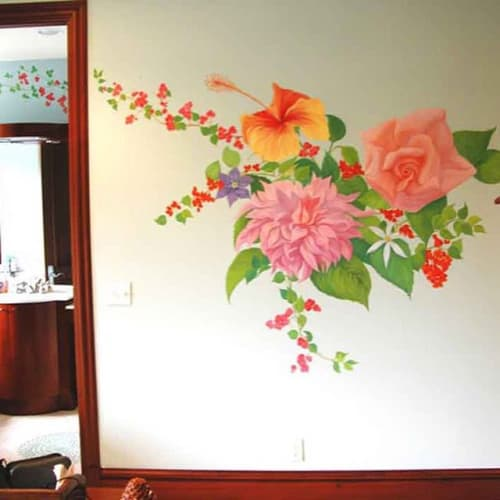 Murals by Murals by Georgeta (Fondos) seen at Private Residence, Lighthouse Point - Indoor Mural