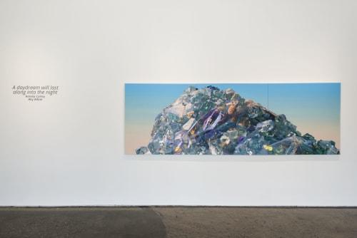 Paintings by Amelia Carley seen at Hathaway Gallery, Atlanta - Lambent Peak (westbound wanderings)