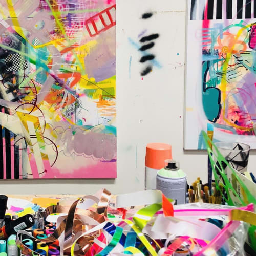 Paintings by Jaime Derringer seen at San Diego, San Diego - Abstract Arts