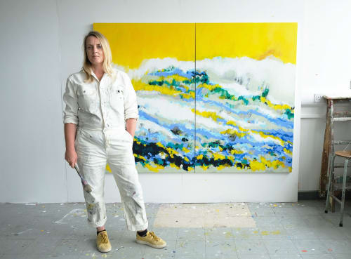 Paintings by Esther O'Kelly Artist seen at Belfast, Belfast - 'Everything will be yellow'
