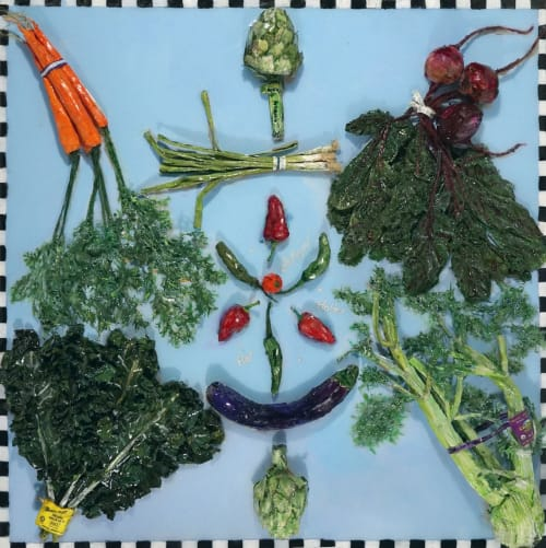 Paintings by Diane Gelman seen at Creator's Studio, Houston - Eat Your Veggies