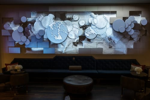 Sculptures by URBANSCREEN seen at JW Marriott Downtown Houston, Houston - SOLANUM