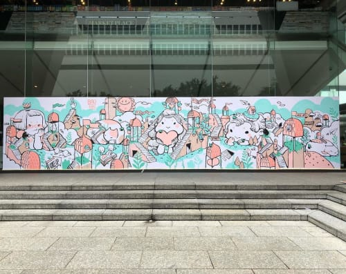 Murals by Bao seen at Jardine House - Wall Mural