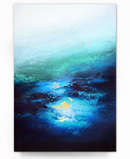 Paintings by Alyson McCrink Fine Art seen at Private Residence, Seattle - Under Great Depths
