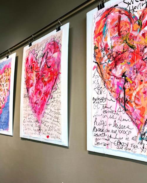 Paintings by Sandy Welch Art seen at 500 W Farms Mall, Farmington - BE MINE