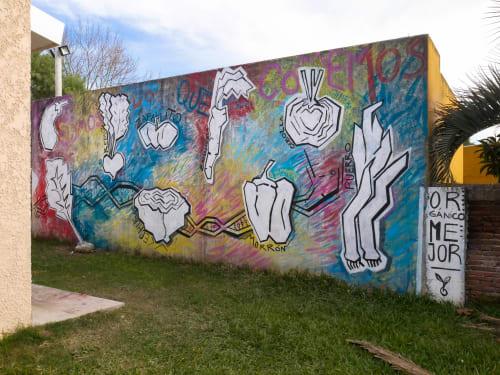 Murals by Elis Montagne seen at Castillos, Castillos - Calendario de Siembra