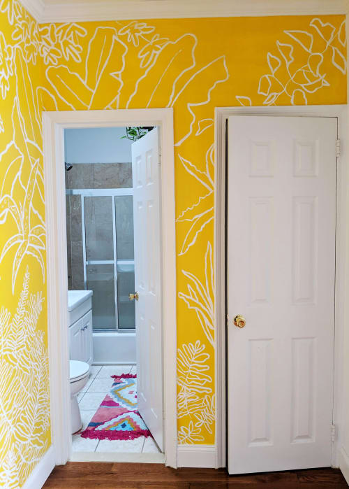 Murals by Zara Fina Stasi (Good for the Bees) seen at Private Residence, New York - Spring Plants Mural