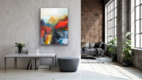 Paintings by Pamela K Beer Contemporary Fine Art seen at Private Residence, Port Orchard - When Morning Arrives