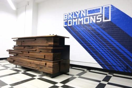 Furniture by HerlanderArt seen at BKLYN Commons, Brooklyn - Reception Desk