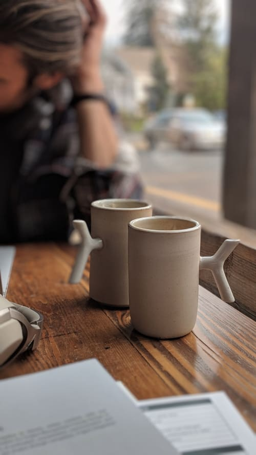 Cups by Stone + Sparrow seen at Cafe Dio, Los Gatos - Campfire K-Grip Mugs