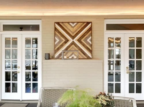 Macrame Wall Hanging by Walker & Wood seen at Private Residence, Nashville - Geometric Wall Piece