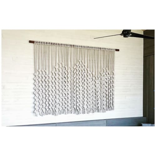Macrame Wall Hanging by Windy Chien seen at Private Residence, Kailua-Kona - Volcano Linescape