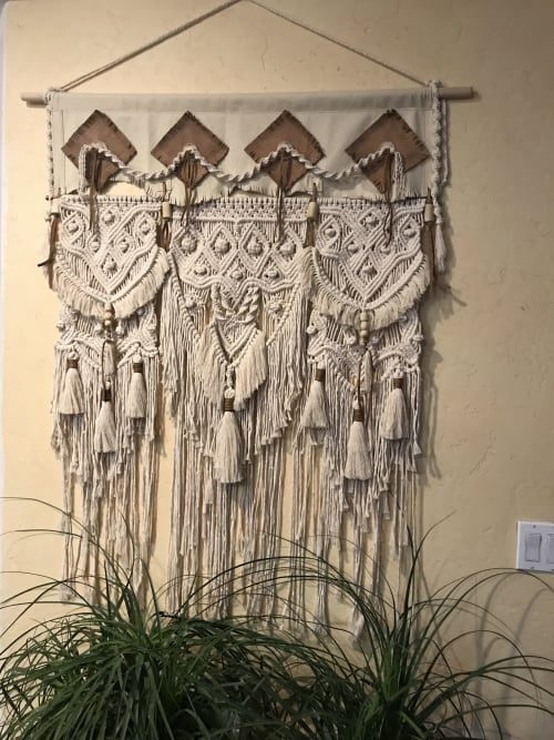 Wall Hangings by Langbaron Art seen at Private Residence - Galeana, Chih., Mexico, Galeana - Leather/macrame wallhanging