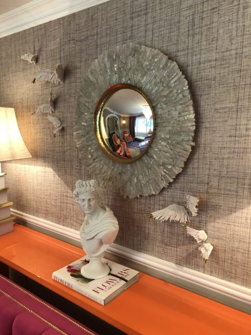 Wall Treatments by Jocelyn Braxton Armstrong seen at Private Residence, Westport - Porcelain Gold Tipped Wings