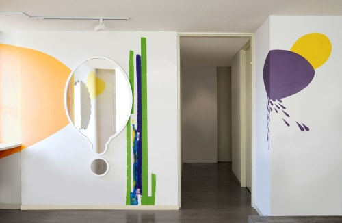Mirror/PRELL | Interior Design by Kahori Maki | Pröll Hair Salon in Shibuya City