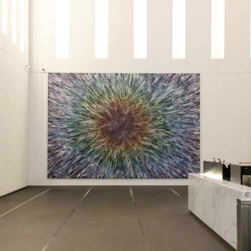 Paintings by Doug Argue seen at One World Trade Center, New York - Painting