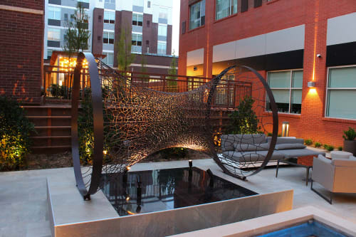 Public Sculptures by Jonathan Hils seen at AC Hotel by Marriott Bricktown, Oklahoma City - Resurgence #3