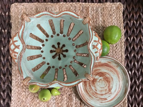 Tableware by Queen Bee Pottery seen at Private Studio, Coconut Creek - Handcrafted Ceramic Berry Bowls