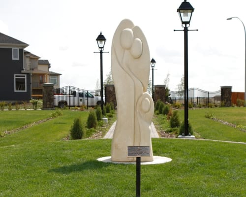 Public Sculptures by Eldon Guay seen at Cranston Residents Association at Century Hall, Calgary - Famille