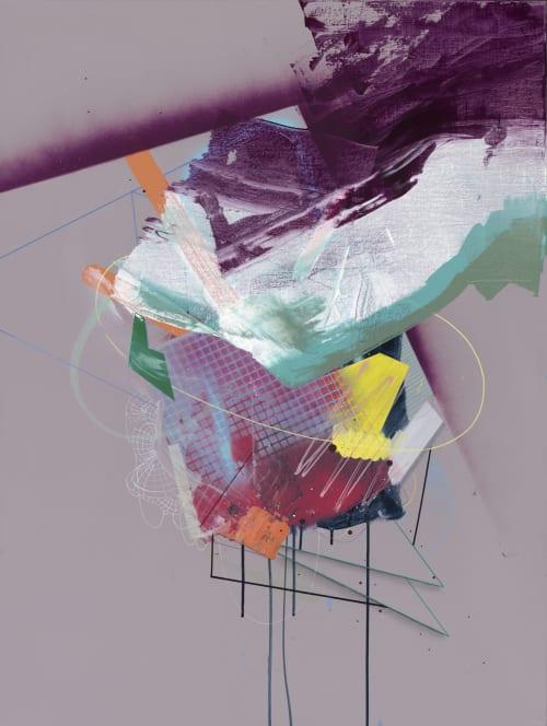 Paintings by Jaime Derringer seen at Private Residence, New York - Biofeedback