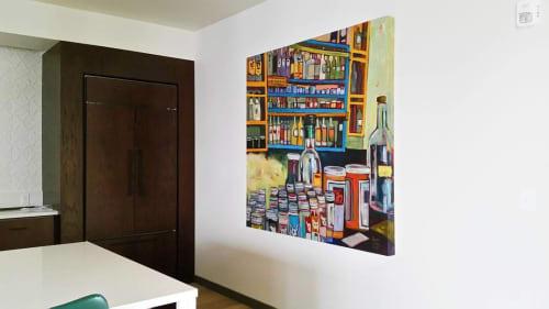 Paintings by Jackie Avery Paintings seen at Modera Belmont, Portland - Bottles