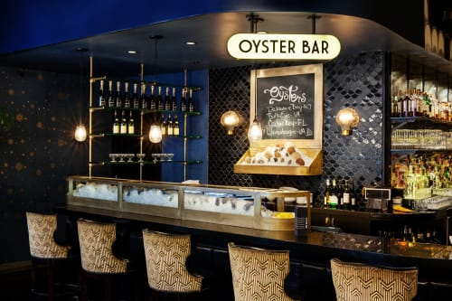 Interior Design by Studio Robert Jamieson seen at The Oyster Bar At The Roxy Hotel, New York - Oyster Bar At The Roxy Hotel