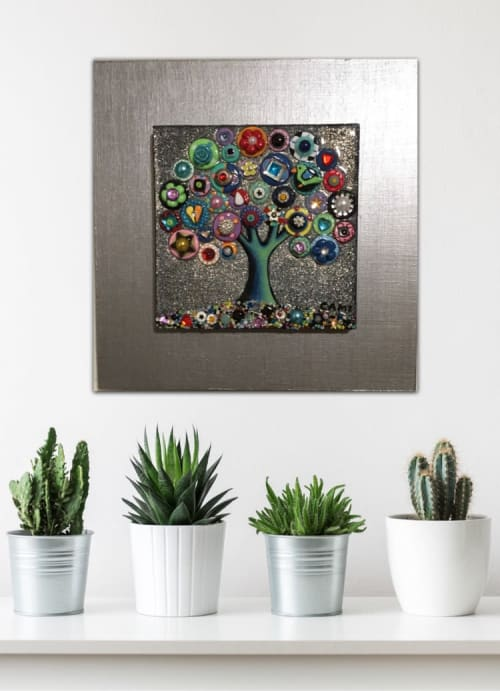 """Art & Wall Decor by Cami Levin seen at Creator's Studio, Dana Point - """"Evening Sparkle"""" - 10x10"""""""