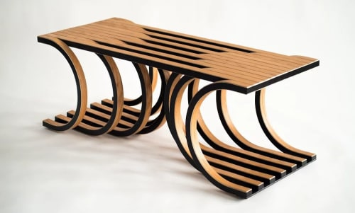 Tables by Marc DiGiaimo Design seen at Good Measure, Philadelphia - Convergence